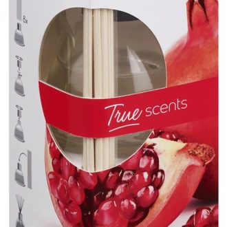 Geurstokjes 45ml True Scents Pomegranate