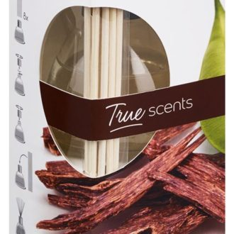 Geurstokjes 45ml True Scents Oud Wood