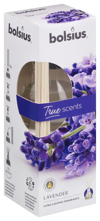Geurstokjes 45ml True Scents Lavendel