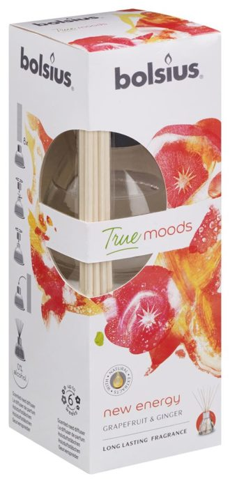 Geurstokjes 45ml True Moods New Energy