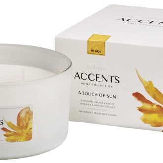 Bolsius Accents scented glass multiwick 75/137 A Touch of Sun