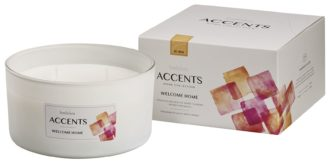 Bolsius Accents scented glass multiwick 75/137 Welcome Home