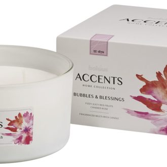 Bolsius Accents scented glass multiwick 75/137 Bubbles & Blessings