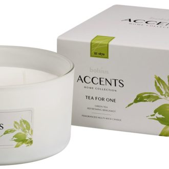 Bolsius Accents scented glass multiwick 75/137 Tea for One