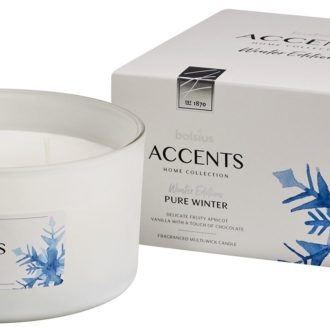 Bolsius Accents scented glass multiwick 75/137 Pure Winter