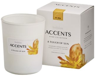 Bolsius Accents scented glass   92/76 A Touch of Sun