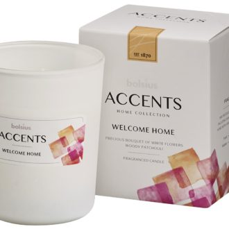 Bolsius Accents scented glass   92/76 Welcome Home