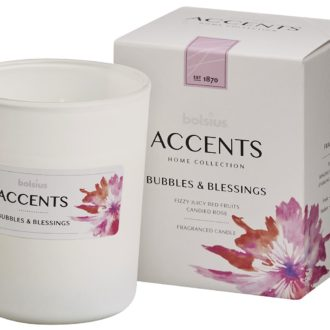 Bolsius Accents scented glass   92/76 Bubbles & Blessings
