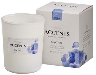 Bolsius Accents scented glass   92/76 Spa Time
