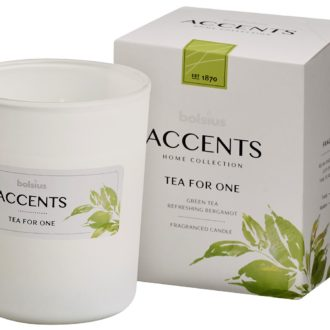 Bolsius Accents scented glass   92/76 Tea for One
