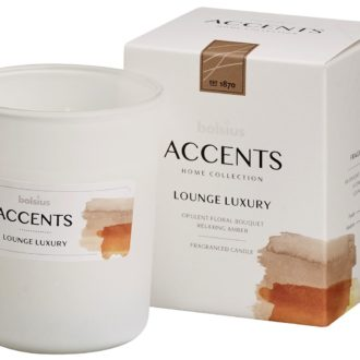 Bolsius Accents scented glass   92/76 Lounge Luxury