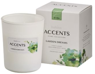 Bolsius Accents scented glass   92/76 Garden Dreams