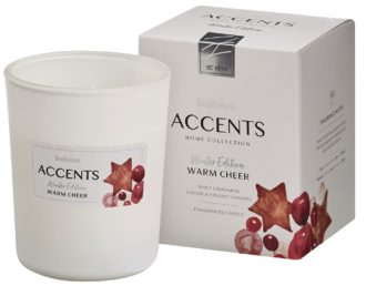 Bolsius Accents scented glass   92/76 Warm Cheer