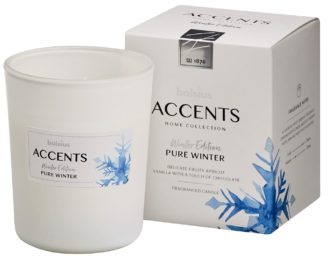 Bolsius Accents scented glass   92/76 Pure Winter