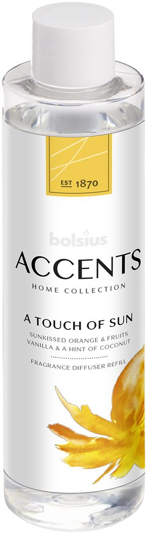 Bolsius Accents Reed Diffuser Refill 200ml A Touch of Sun