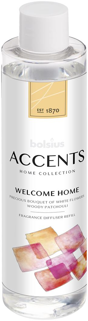 Bolsius Accents Reed Diffuser Refill 200ml Welcome Home