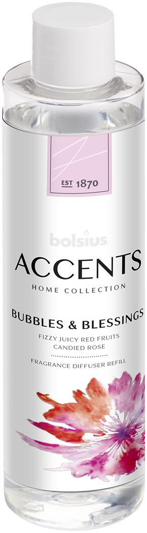 Bolsius Accents Reed Diffuser Refill 200ml Bubbles & Blessings